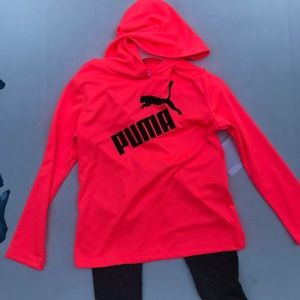 Puma-girls activewear 2 pieces set-size 4